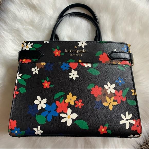 Kate Spade floral handbag purse crossbody nice!